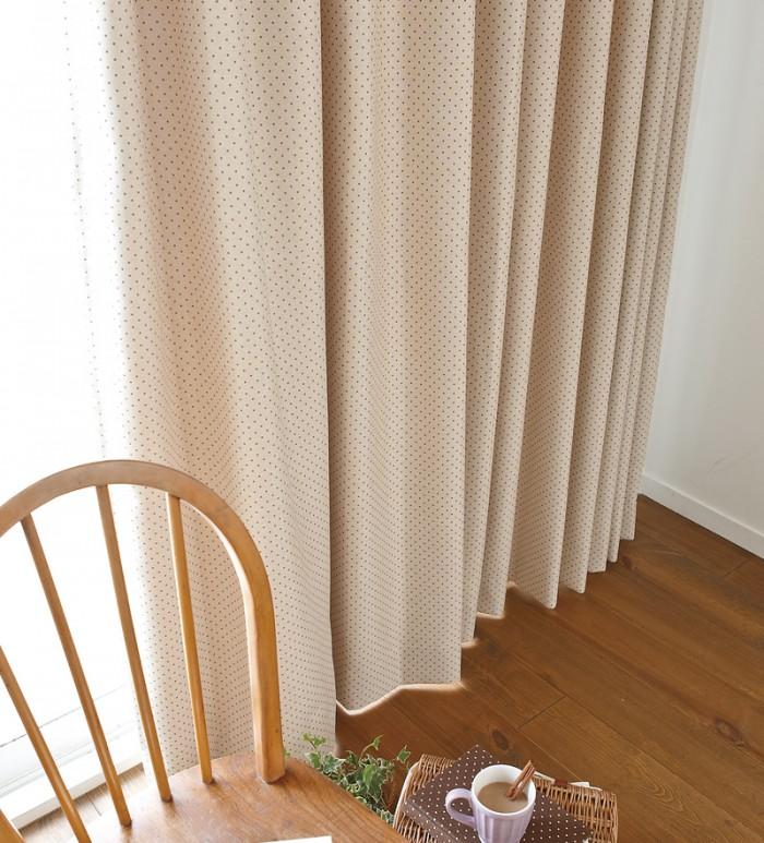 水玉金運アップの風水カーテン
