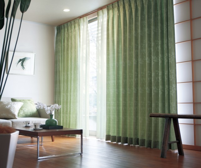 和室にも合う緑のカーテン