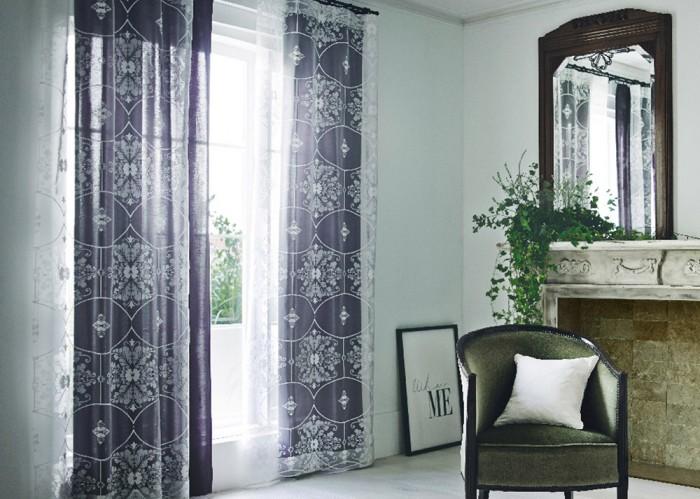 装飾タイルのモチーフのオパールプリントボイルレースカーテン パラス
