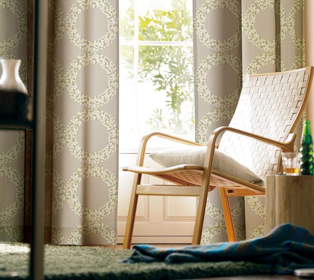 洗練された和室カーテン