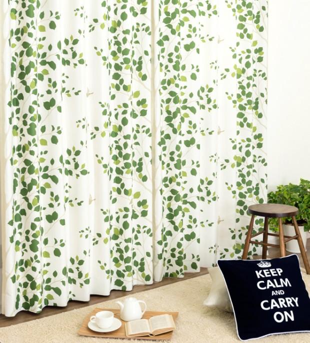 健康運がアップしそうな緑(グリーン)のカーテン