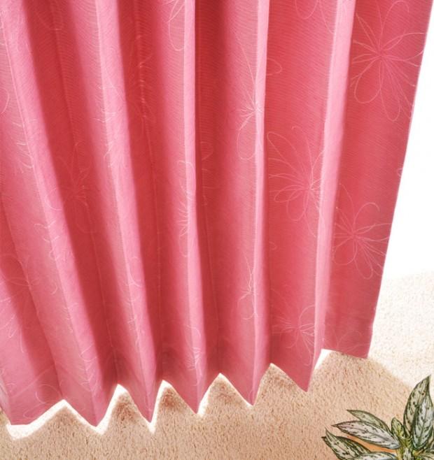 ピンクのカーテンコーディネート