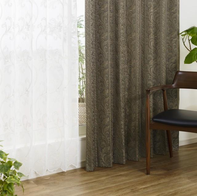 重厚な本格ジャガード織りカーテン