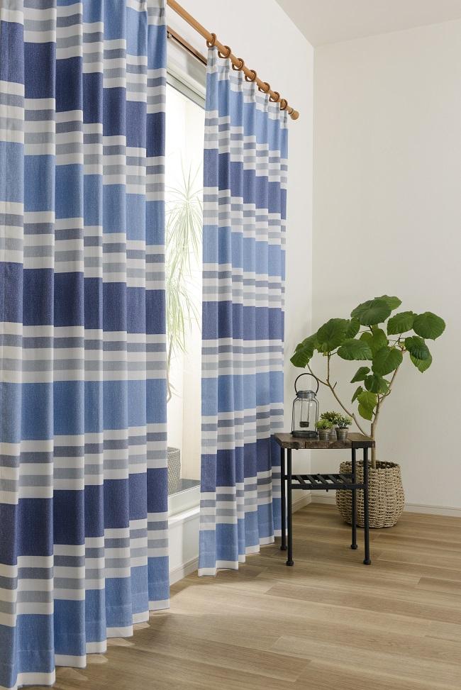 コットンのような風合いの2級遮光カーテン
