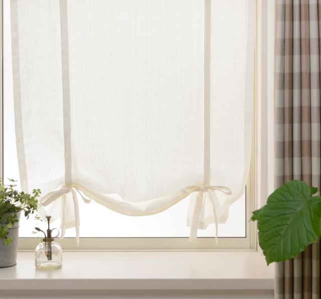 フラットスタイルの小窓用カーテン