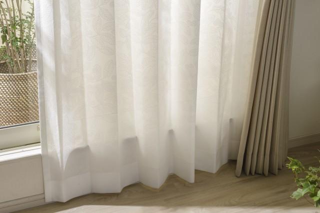 遮熱・遮像の多機能レースカーテン