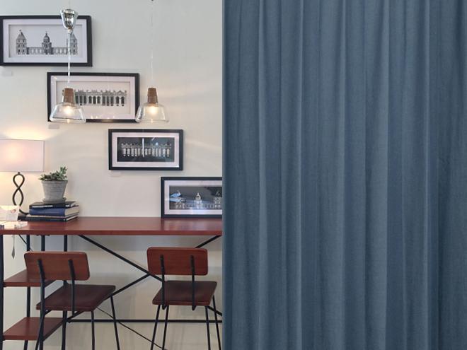 リネン混合のナチュラルカーテン