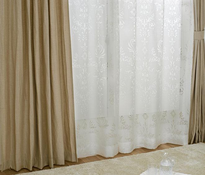 裏地に遮光性のあるアクリルコーティング加工付き1級遮光カーテン