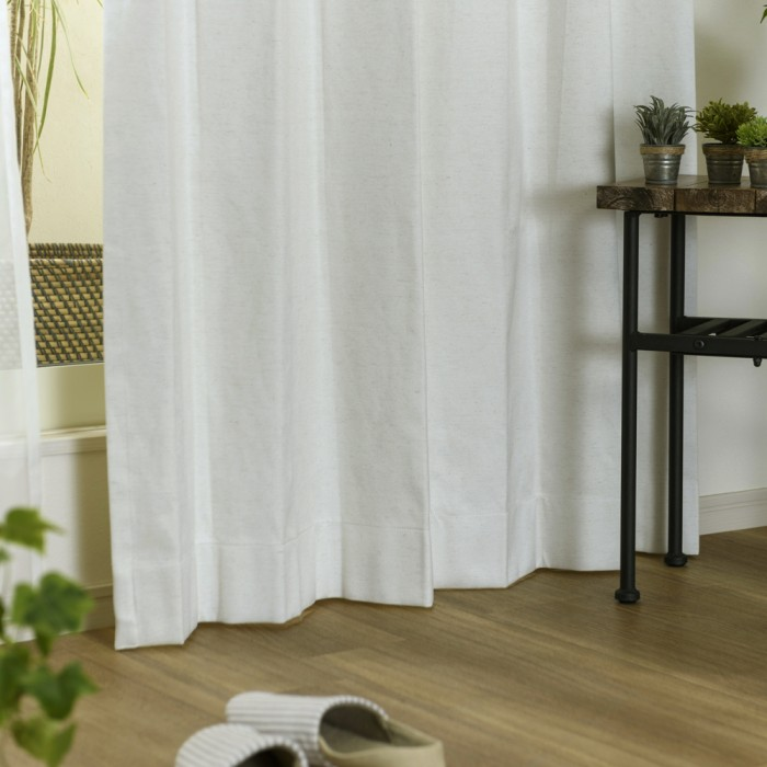 麻混ナチュラルで光を通さない1級遮光・遮熱・防音カーテン オンブル