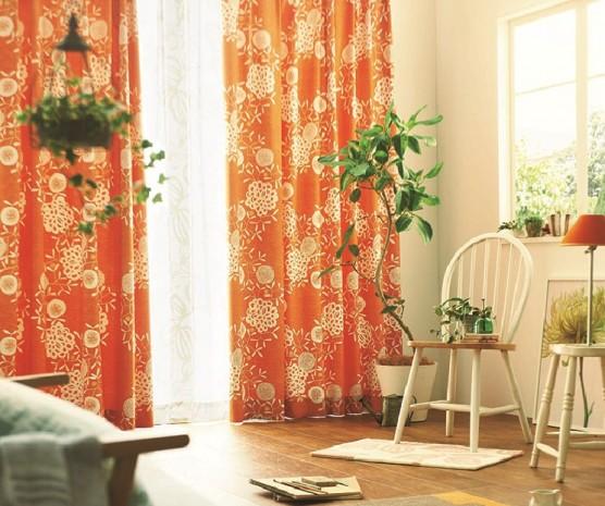 オレンジカーテン