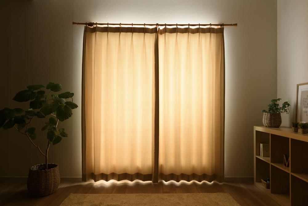 3級遮光カーテンの透過度