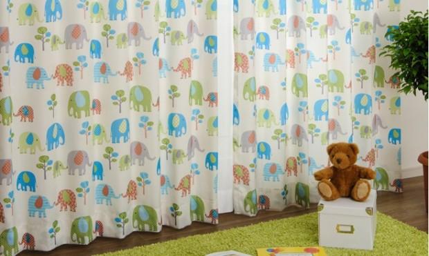 エレファント子供部屋カーテン07_07_04