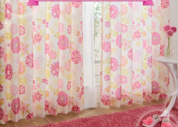 かわいい花柄子供部屋カーテンアリッサ07_07_05