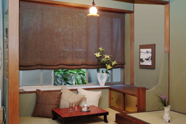 和室のドレープカーテンコーディネートイメージ