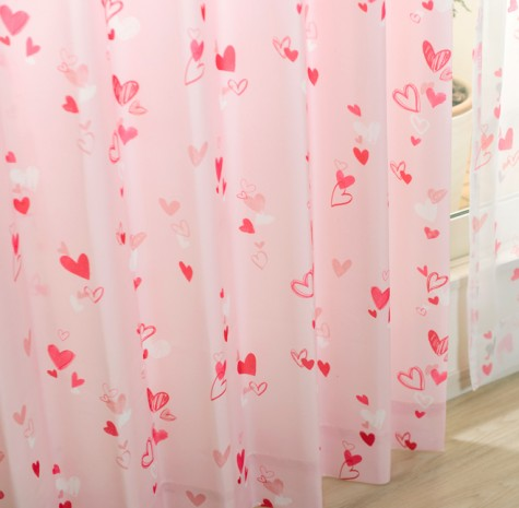 ピンクのカーテンコーディネート例