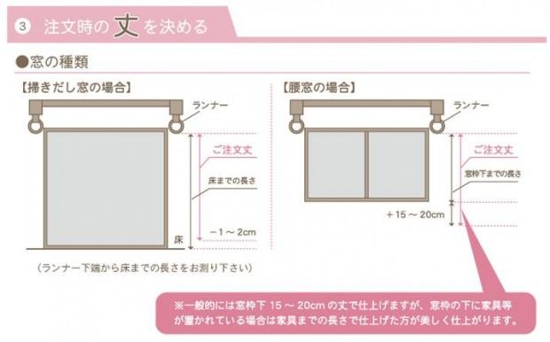 カーテン 丈の長さイメージ