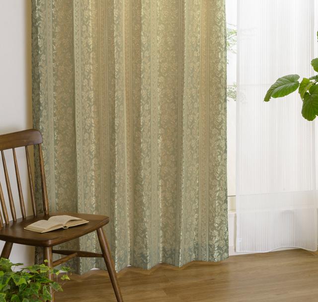 和室にあう上品なクラシカルカーテン