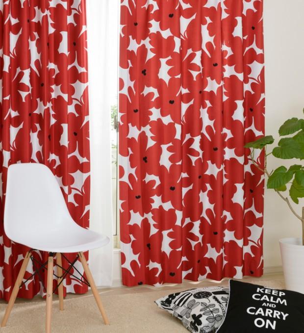 北欧調のモダンなカーテン