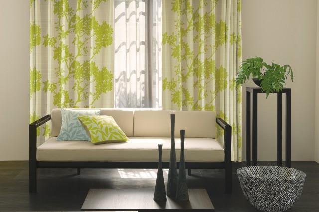 1級遮光カーテン 新緑