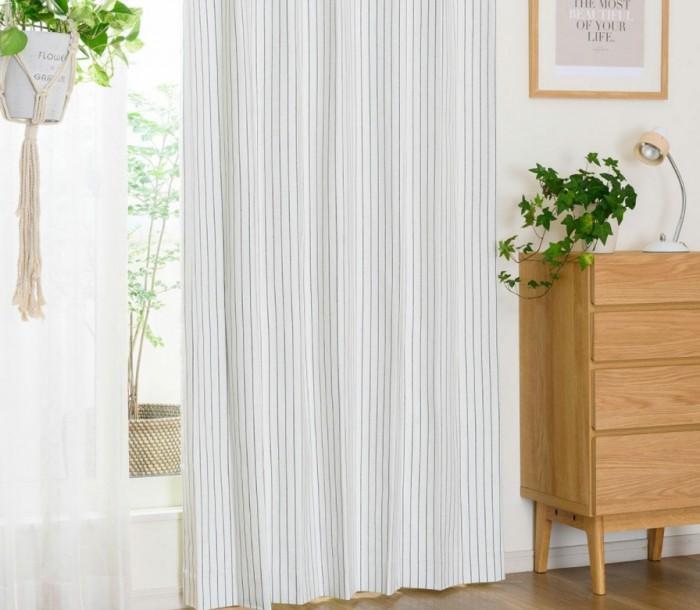 綿100% のやさしい風合いと遮光率100% を兼ね備えた完全1級遮光カーテン アーリー