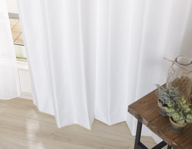 白の防音カーテン