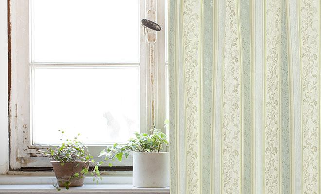ジャガード織遮光裏地付き2重カーテン スザンナ
