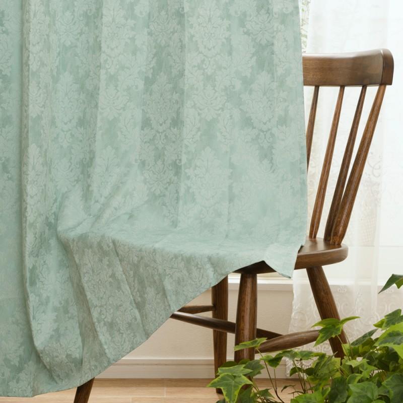 ジャガード織遮光裏地付き2重カーテン ホーリー