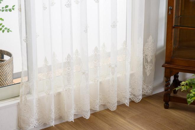 トルコ刺繍レースカーテン人気ランキング3位 ケルクの刺繍柄