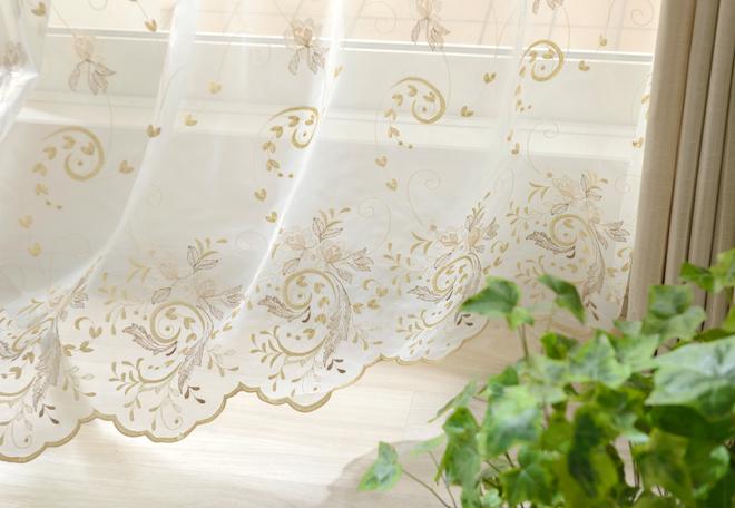 おすすめのトルコ刺繍レースカーテン「レジーナ」
